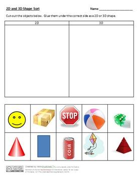 2D and 3D Shapes Lesson Plans