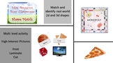2D and 3D Shape Picture and Word Match