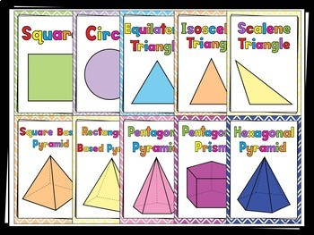 Shape Posters - 40 posters bundle (2D & 3D) - Maths (Geometry)