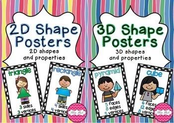 2D and 3D Shape Posters Bundle