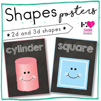 2D and 3D Shape Posters {Chalkboard Series}