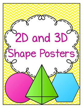 2D and 3D Shape Posters Chevron