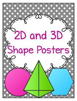 2D and 3D Shape Posters Polka Dots