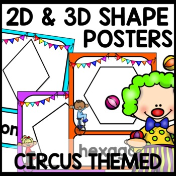 2D and 3D Shape Posters (Circus Themed)