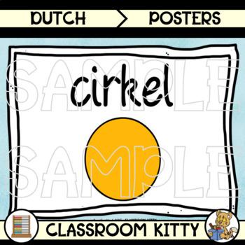 2D and 3D Shape Posters : Colour : Dutch