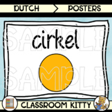 2D and 3D Shape Posters : Colour : Dutch