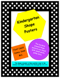 2D and 3D Shape Posters #1 - Kindergarten