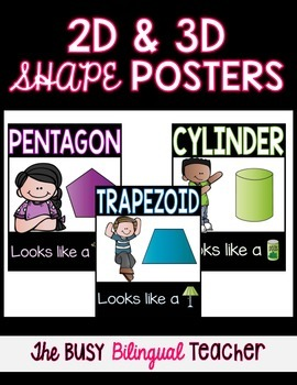 2D and 3D Shape Posters *Melonheadz Edition*