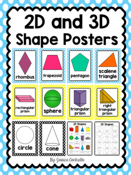 2D and 3D Shape Posters - Polka Dot