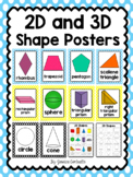 2D and 3D Shape Posters {Light Blue and Yellow Polka Dot}