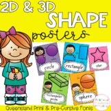 2D and 3D Shape Posters - Queensland Fonts