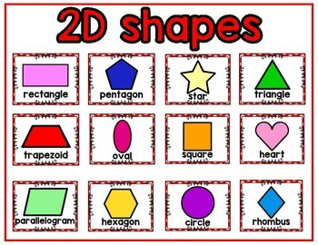 2D and 3D Shape Posters- Red Polka Dots