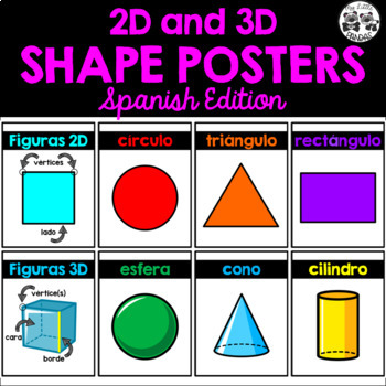 2D and 3D SHAPE POSTERS *Spanish Edition*