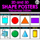 2D and 3D Shape Posters *Vietnamese Edition*