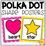 2D and 3D Shape Posters in a Polka Dot Classroom Theme