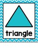 2D and 3D Shape Posters in a Rainbow Chevron Classroom Theme