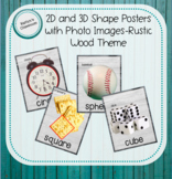 2D and 3D Shape Posters with Photo Images- Rustic Wood Theme