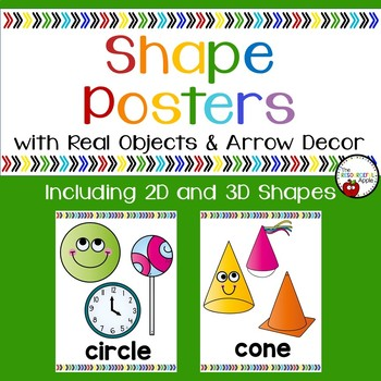 2D and 3D Shape Posters with Real Objects