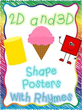 2D and 3D Shape Posters with Rhymes