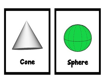 2D and 3D Shape Posters~Simple Black Frame