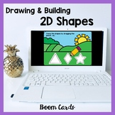 Drawing and Building 2D Shapes Boom Cards