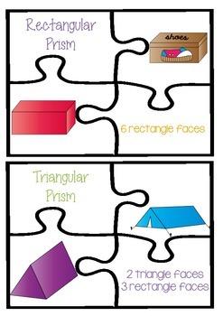 2D and 3D Shape Puzzle Math Center