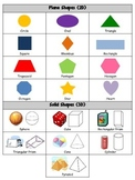 2D and 3D Shape Reference Sheet