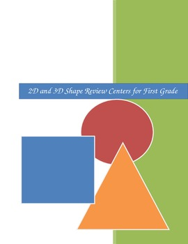 2D and 3D Shape Review Center Task Cards