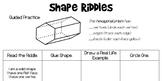 2D and 3D Shape Riddles