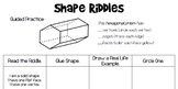 2D and 3D Shape Riddles