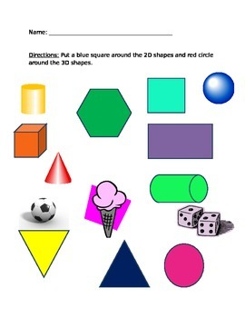 2D and 3D Shape Sort
