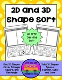 2D and 3D Shapes - Sorting Activity