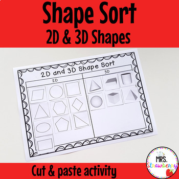 2D and 3D Shape Sort Cut and Paste