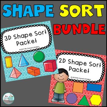 2D and 3D Shape Sort Packet Bundle