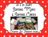 2D and 3D Shape Sorting Mats & Sorting Cards