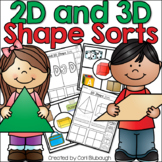 2D and 3D Shape Sorts and Worksheets