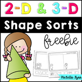 2D and 3D Shape Sorts {Freebie}