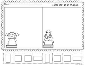 2D and 3D Shape Sorts {Freebie}