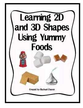 2D and 3D Shape Study Using Food