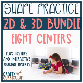 2D and 3D Shape Task Cards Bundle Pack!!!