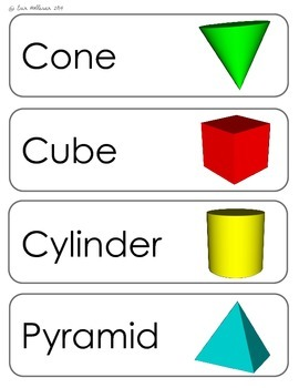 Shapes (2D & 3D) Vocabulary Cards and Spelling Practice