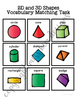 2D and 3D Shape Vocabulary Folder Game for Early Childhood Special Education