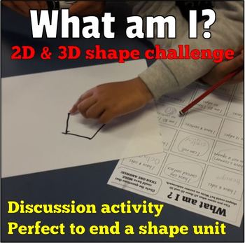 2D and 3D Shape Challenge Worksheet - Review Activity