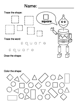 2d and 3d shape worksheets by leigh anne barr teachers pay teachers. Black Bedroom Furniture Sets. Home Design Ideas