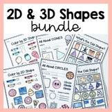 2D and 3D Shape Worksheets Bundle | Distance Learning