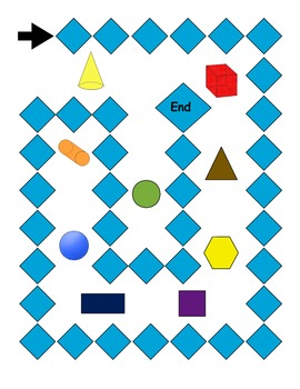 2D and 3D Shape and Position Word Game
