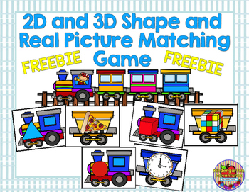 2D and 3D Shape and  Real Picture Matching Game