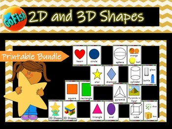 2D and 3D Shape mini posters