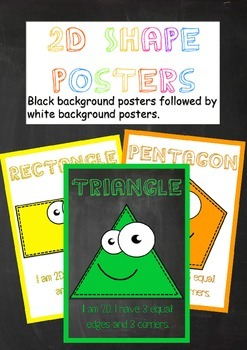 2D and 3D Shape posters and activities