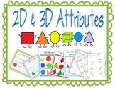 2D and 3D Shapes Bundle Activities
